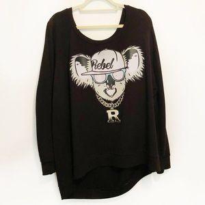 TORRID REBEL WILSON Koala Sweatshirt Size 4X